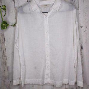 Ann Taylor Loft Small Cotton Long Sleeve Button